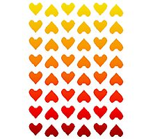 Cascading Hearts Photographic Print