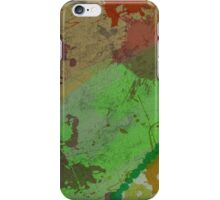 Grungy Abstract Splatter Pattern in Earth Colors iPhone Case/Skin