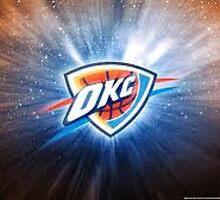 Oklahoma City Thunder Galaxy Logo by dylan jolly