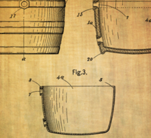 J.c.roth Beer Keg Patent From 1898 Sticker