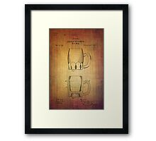 Beer Mug Patent From 1872 Framed Print