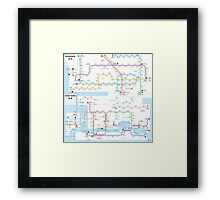 Hong Kong-Shenzhen metro map  Framed Print