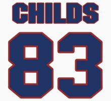 National football player Henry Childs jersey 83 by imsport