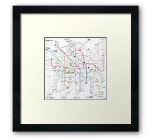 Berlin U-bahn S-bahn map Framed Print