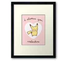 Pikachu Valentine V2 Framed Print