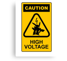 Pikachu high voltage pokemon Canvas Print