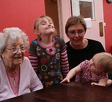 Mother, daughter not in law, and grandchildren by Micky McGuinness