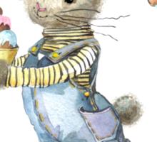 rabbit sweet baker. illustration, watercolor, Sticker