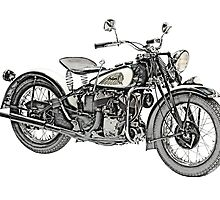 1941 Indian Scout 741 Motorcycle by surgedesigns