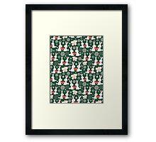 pattern of rabbit lovers Framed Print