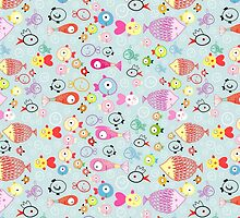 pattern of colorful fish by Tanor