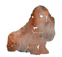 Basset hound painting watercolor art print by Joanna Szmerdt
