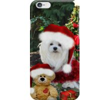 Snowdrop the Maltese & Little Ted iPhone Case/Skin