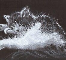 sleepy kitten by tigerr