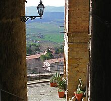 Pienza in Tuscany by al holliday