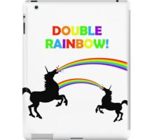 Double Rainbow Unicorn Vomit iPad Case/Skin