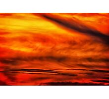 Abstract stirred sunset Photographic Print