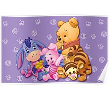 Baby Winnie The Pooh, Tigger, & Piglet Poster