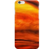 Abstract stirred sunset iPhone Case/Skin