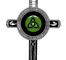 Celtic Irish Cross Sword by wildwildwest