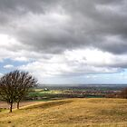 Edlesborough Church from Dunstable Downs by Roantrum