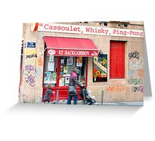 Cassoulet, Whiskey, Ping-Pong Greeting Card