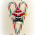 Happy Holidays M&M Guy by Susan S. Kline