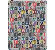 Street ABC iPad Case/Skin