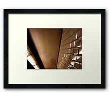 subway mood Framed Print