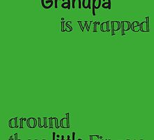 John Deere Green For Grandpa Handprint Gift by JodiErin