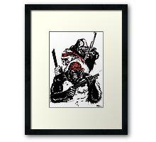 Guerrilla Gorillas White Framed Print