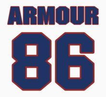 National football player Justin Armour jersey 86 by imsport