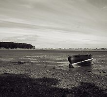 Beached Boat in Findhorn Bay by Tez Watson