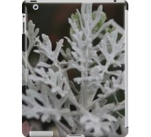 Silvery plant on a winters day iPad Case/Skin