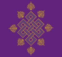 Tibet Mystical Endless Knot with Lotuses T-Shirt