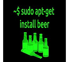 Linux sudo apt-get install beer Photographic Print