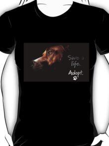 Tchoko says Please Adopt! T-Shirt