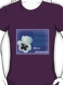 A Flower for Christmas - for all my RedBubble Friends T-Shirt