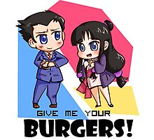 Give me your burgers 2! Photographic Print