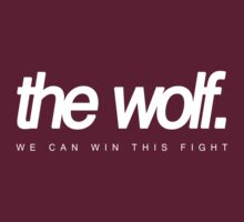 """the wolf. """"the Will to Fight"""" (red tee) by thewo1f"""