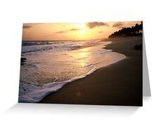 sunset Winneba Ghana Greeting Card