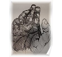 hand in ink Poster