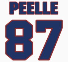 National football player Justin Peelle jersey 87 by imsport