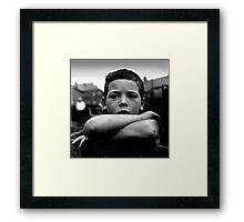 Miner's Boy Framed Print