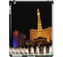 Vibrant Las Vegas - Bellagio's Fountains, Paris, Bally's and Flamingo iPad Case/Skin
