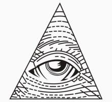 Illuminati Black - All Seeing Eye - Simple Kids Clothes