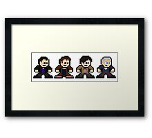 8-bit Dr. Who (9th 10th 11th & 12th Doctors) Framed Print