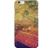 Wooden Gazebo and Small Shed in Forest iPhone Case/Skin