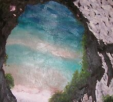 SOLD- View Through Arch Rock by Jennifer Greenfield