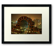 Midnight Views in Windy City Framed Print